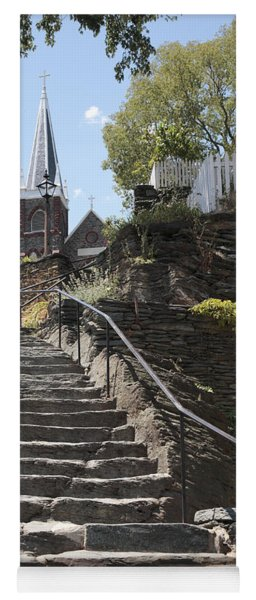 Stone Steps And Saint Peters Church At Harpers Ferry Yoga Mat