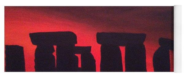 Stonehenge At Dusk Yoga Mat
