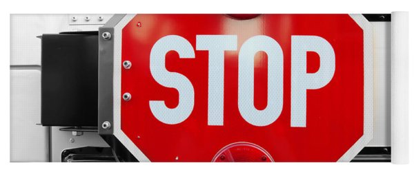Stop Bw Red Sign Yoga Mat