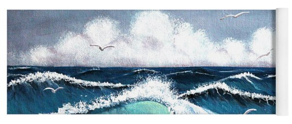 Storm At Sea Yoga Mat