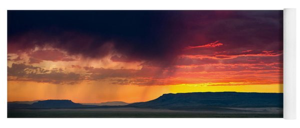 Storm Clouds Over Square Butte Yoga Mat