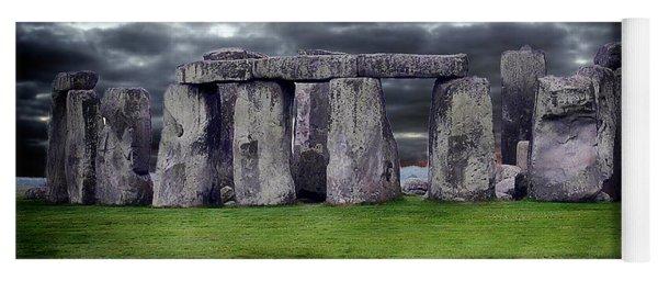 Storm Clouds Over Stonehenge Yoga Mat
