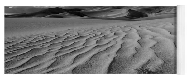 Storm Over Sand Dunes Yoga Mat