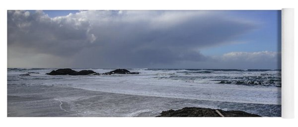 Storm Rolling In Wickaninnish Beach Yoga Mat
