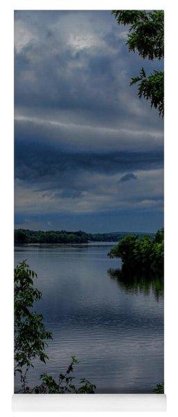 Storm Rolling Over Lake Wausau Yoga Mat