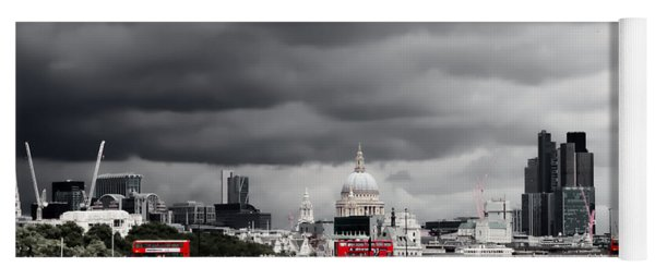 Stormy Skies Over London Yoga Mat