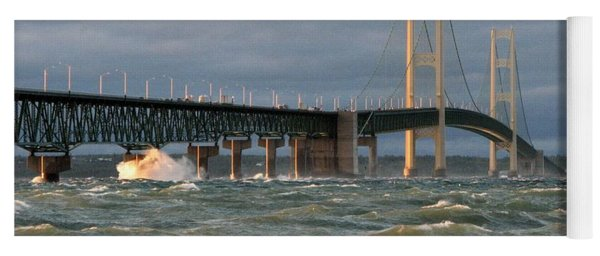 Stormy Straits Of Mackinac Yoga Mat