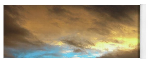 Stratus Clouds At Sunset Bring Serenity Yoga Mat