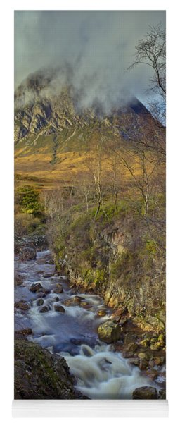 Stream Below Buachaille Etive Mor Yoga Mat