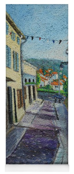 Street View From Provence Yoga Mat