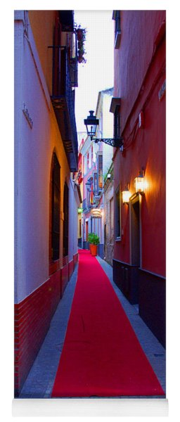 Streets Of Seville - Red Carpet  Yoga Mat