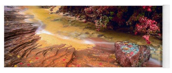 Striated Creek Yoga Mat