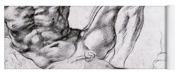 Study For The Creation Of Adam Yoga Mat