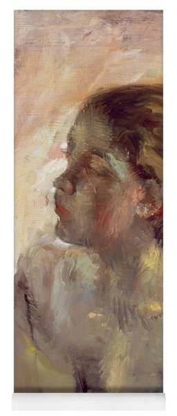 Study Of A Girls Head, Late 1870s Yoga Mat