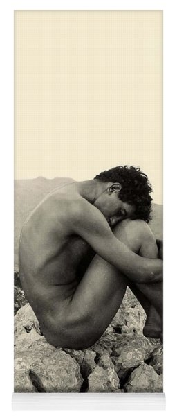Study Of A Male Nude On A Rock In Taormina Sicily Yoga Mat