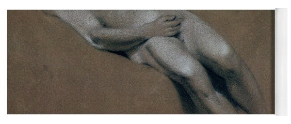 Study Of A Recumbent Male Nude Yoga Mat