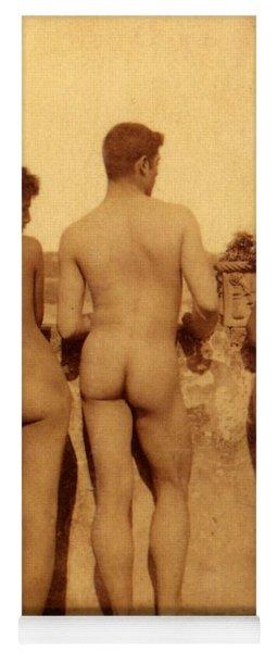 Study Of Three Male Nudes Yoga Mat