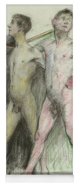 Study Of Two Male Figures  Yoga Mat