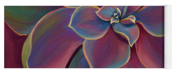 Yoga Mat featuring the painting Succulent Delicacy by Sandi Whetzel