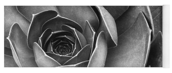 Succulent In Black And White Yoga Mat