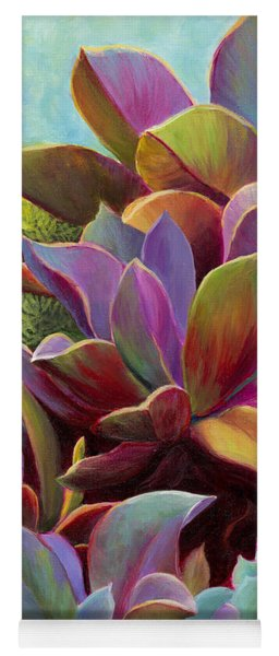 Yoga Mat featuring the painting Succulent Jewels by Sandi Whetzel