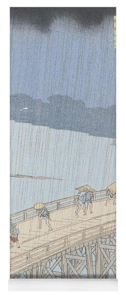 Sudden Shower On Ohashi Bridge At Ataka Yoga Mat