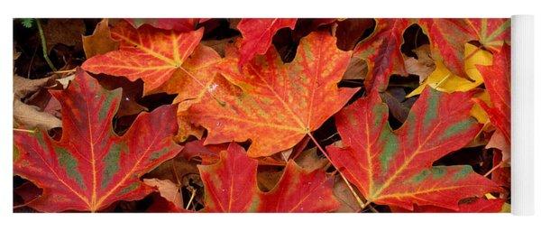 Sugar Maple Leaves Yoga Mat