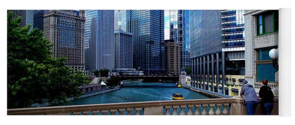 Summer Breeze On The Chicago River - Color Yoga Mat