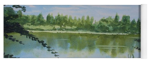 Summer By The River Yoga Mat