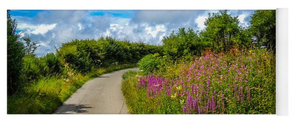Summer Flowers On Irish Country Road Yoga Mat