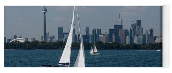 Summer Sailing Postcard From Toronto Yoga Mat