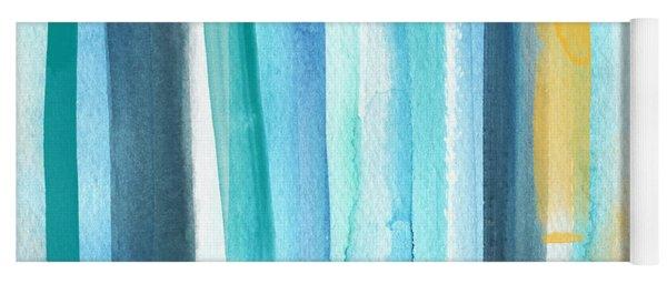Summer Surf- Abstract Painting Yoga Mat