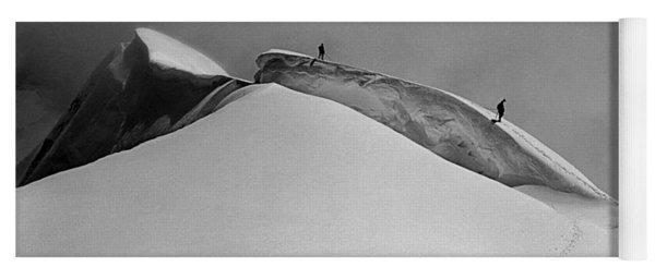 T-702412-bw-summit Of Mt. Robson Yoga Mat