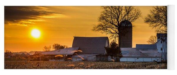 Sun Rise Over The Farm Yoga Mat