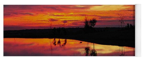 Sun Set At Cowen Creek Yoga Mat