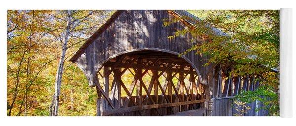 Sunday River Covered Bridge Yoga Mat