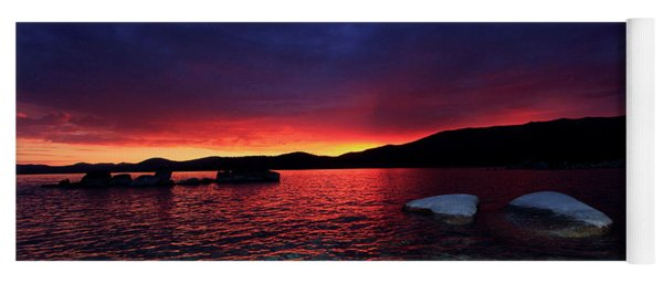 Sundown In Lake Tahoe Yoga Mat