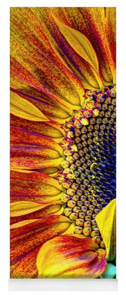 Sunflower Abstract Yoga Mat