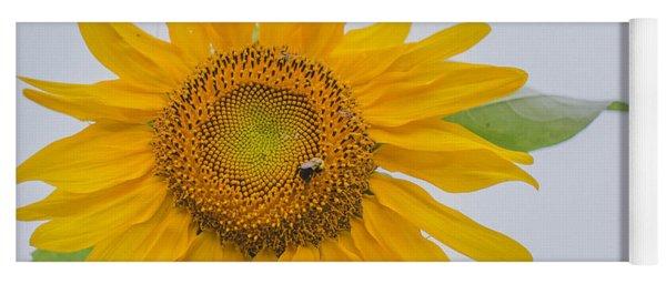 Sunflower And Bee Yoga Mat