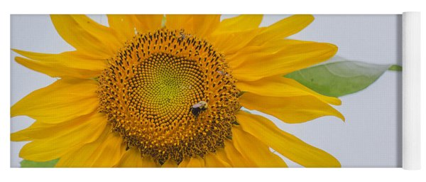 Sunflower And Bee Yoga Mat