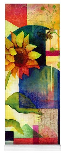 Sunflower Collage Yoga Mat