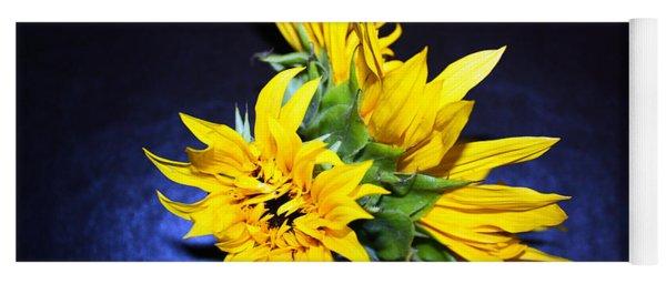 Sunflower Portrait Yoga Mat