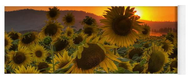Sunflower Sun Rays Yoga Mat