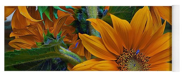 Sunflowers In A Bunch Yoga Mat