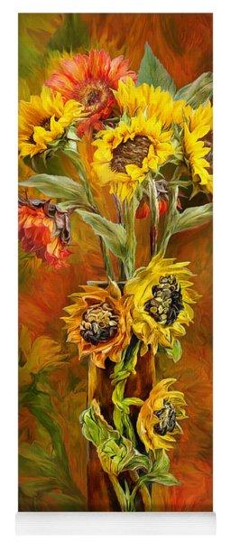 Sunflowers In Sunflower Vase Yoga Mat