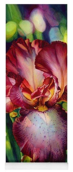 Sunlit Iris Yoga Mat