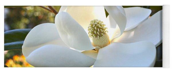 Sunlit Southern Magnolia Yoga Mat