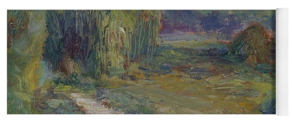 Sunny Morning In The Park -wetlands - Original - Textural Palette Knife Painting Yoga Mat