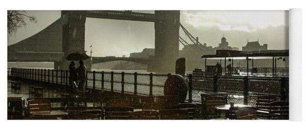 Sunny Rainstorm In London England Yoga Mat