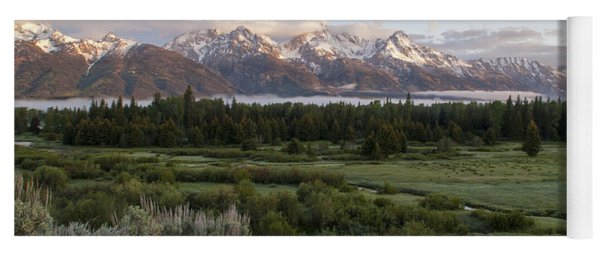 Sunrise At Grand Teton Yoga Mat
